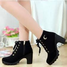 womens ankle boots uk ebay womens high top heel lace up buckle ankle boots winter pumps