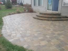 stone patio designs cost modern patio