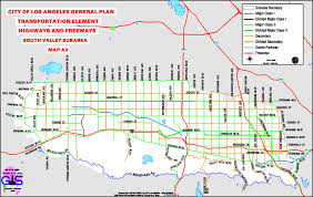 Map Of City Of Los Angeles by City Of Los Angeles General Plan Transportation Element Highways