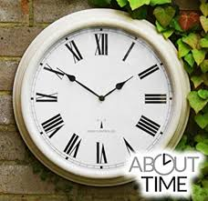 perfect time radio controlled outdoor garden wall clock antique