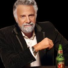 the dos equis drinker is only as interesting as a budweiser drinker