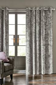 Charcoal Grey Blackout Curtains Buy Crushed Velvet Eyelet Blackout Curtains From Next Usa
