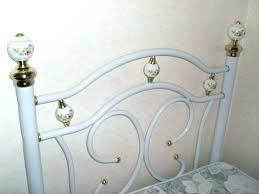 chambre fer forgé lit en fer blanc lit fer forge blanc 1 personne lit en fer blanc