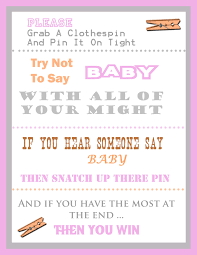 the clothespin baby shower