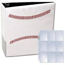 photo album pages for 3 ring binder white stitched baseball card collectors album with 25