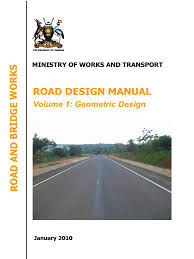 uganda road design manuals volume 1 geometric design manual