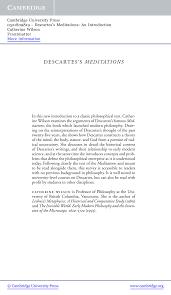 descartes u0027s meditations an introduction pdf download available