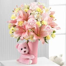 baby flowers the baby girl big hug bouquet by ftd vase included