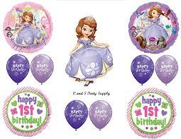 Sofia Decorations Amazon Com U0027s 1st Birthday Sofia The First Party Balloons