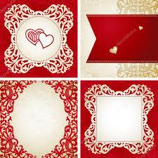 template frame design for retro wedding card u2014 stock vector