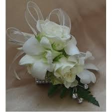 White Rose Wrist Corsage Singapore Orchid Rose Wrist Corsage Corsage Pinterest Wrist