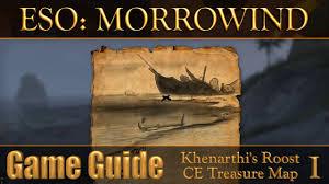 Khenarthi S Roost Treasure Map 1 Eso Morrowind Khenarthi U0027s Roost Ce Treasure Map I The Elder