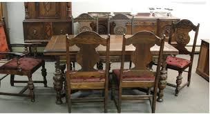 Awesome Antique Dining Room Tables And Chairs  With Additional - Antique dining room furniture