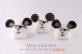 pom pom craft for kids three blind mice nurturestore