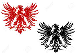 power retro eagles for heraldry or tattoo design royalty free