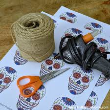 Skull Decorations For The Home Diy Sugar Skull Banner With Free Printable And Tutorial
