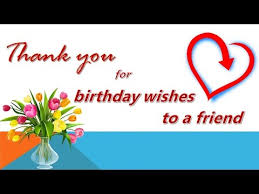 thank you for birthday wishes to friend thank you card thank