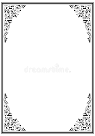 black frame with ornament stock photos image 877943