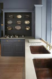 kitchen confidential 10 ways to achieve the plain english look above inset copper sinks in a plain english design featuring the adam bray color palette
