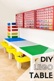 Lego Bed Frame Diy Lego Table With Storage The Handyman S