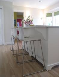 furniture acrylic bar stools in white with white paint kitchen
