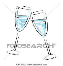disegni bicchieri disegno bicchieri chagne mezzi spumante e celebrazione