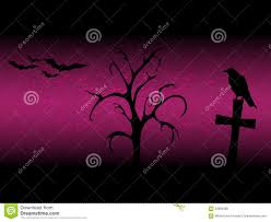 halloween raven background scarry halloween background with sillhouette old tree cross