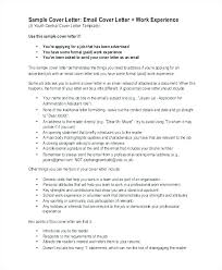 cover letter email cover letter email exle entry level housekeeper cover letter