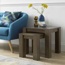 bentley designs turin dark oak nest of lamp tables style our home