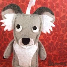 australia felt animal ornaments squshies