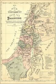 Isreal Map Amazon Com 24x36 Poster Old Testament Map Palestine Israel Holy