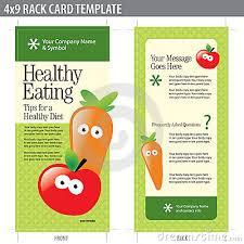 nutrition brochure template rack card brochure template
