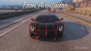 Lamborghini Aventador Chrome - aventador tron paint job gta5 mods com