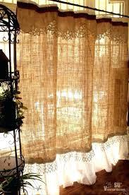 custom french shabby rustic chic burlap shower curtain valance lace ruffle white baylor bears shower curtain
