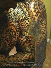 attractive samoan chest and sleeve tattoos photo 3 2017 real