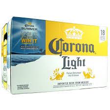 alcohol in corona vs corona light light 18 pack
