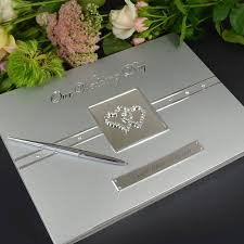 engravable wedding guest book engraved wedding guest book and keepsake personalized favors