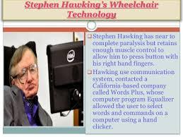 Stephen Hawking Chair Stephen Hawkings Wheelchair Technology