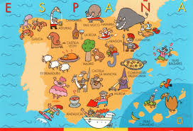 Map Of Spain And Morocco by Map Of Spain With Landmarks International Culture Spain