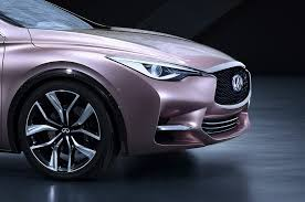 rose gold infiniti car new infiniti q30 concept for a premium hatch is two steps before