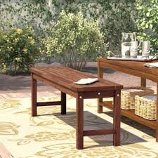 patio table and bench picnic bench outdoor benches you ll love wayfair