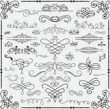 vintage ornaments free vector