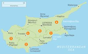 Interactive Map Of Europe by Map Of Cyprus Cyprus Regions Rough Guides