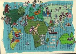 Maps Around The World by Illustrated Map Around The World In 18 Holes Golf Mens Golf