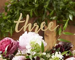 Gold Table L Gold Calligraphy Table Numbers 1 6
