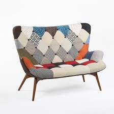 sofa patchwork mid century modern reproduction contour sofa