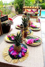 Hawaiian Table Decorations New 25 Best Ideas About Luau Table