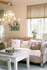 modern minimalist design of the living shabby chic that has cream