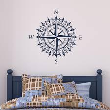 compass vinyl wall decal sticker art design 28 00 via etsy