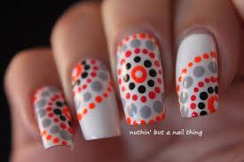 nuthin u0027 but a nail thing tribal polka dot nail art